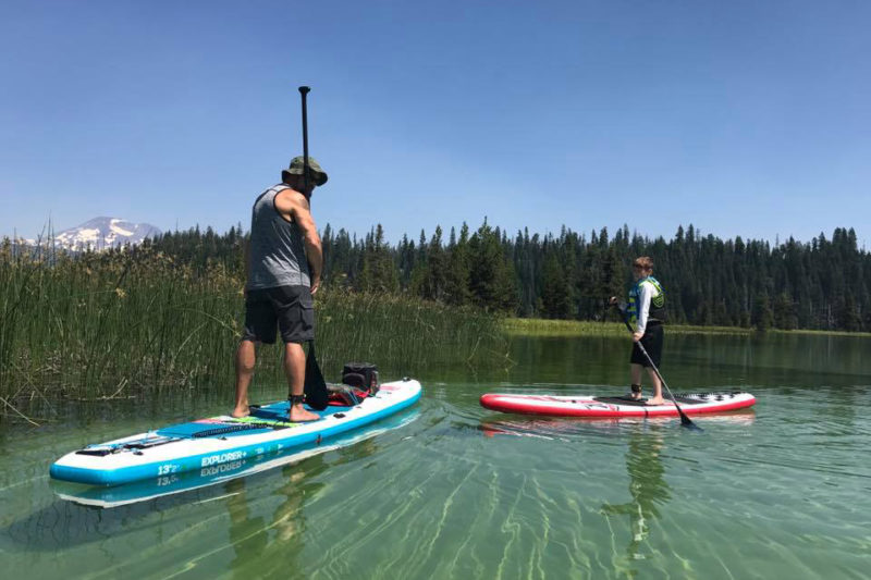 Paddle Boarding Hosmer Lake, SUP Hosmer, Stand Up Paddle Hosmer, Paddling Hosmer