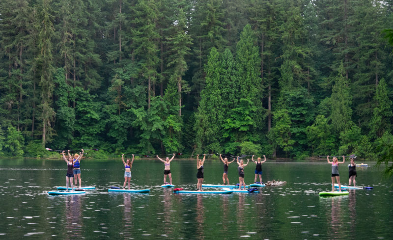 Women's Paddle Fit Classes SUP Fitness