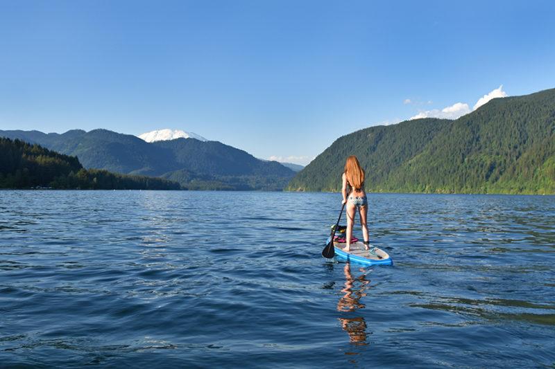 Stand Up Paddle Boarding Yale Lake