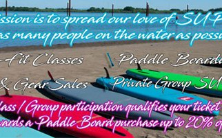 OUR MISSION IS TO SPREAD OUR LOVE OF SUP AND GET AS MANY PEOPLE ON THE WATER AS POSSIBLE!!