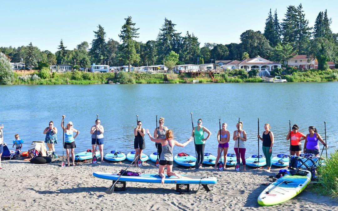 "Horseshoe Lake in Woodland Wa WOMEN'S PADDLE-FIT CLASSES ""Cardio & Core Strength"" 4pm June 16th"