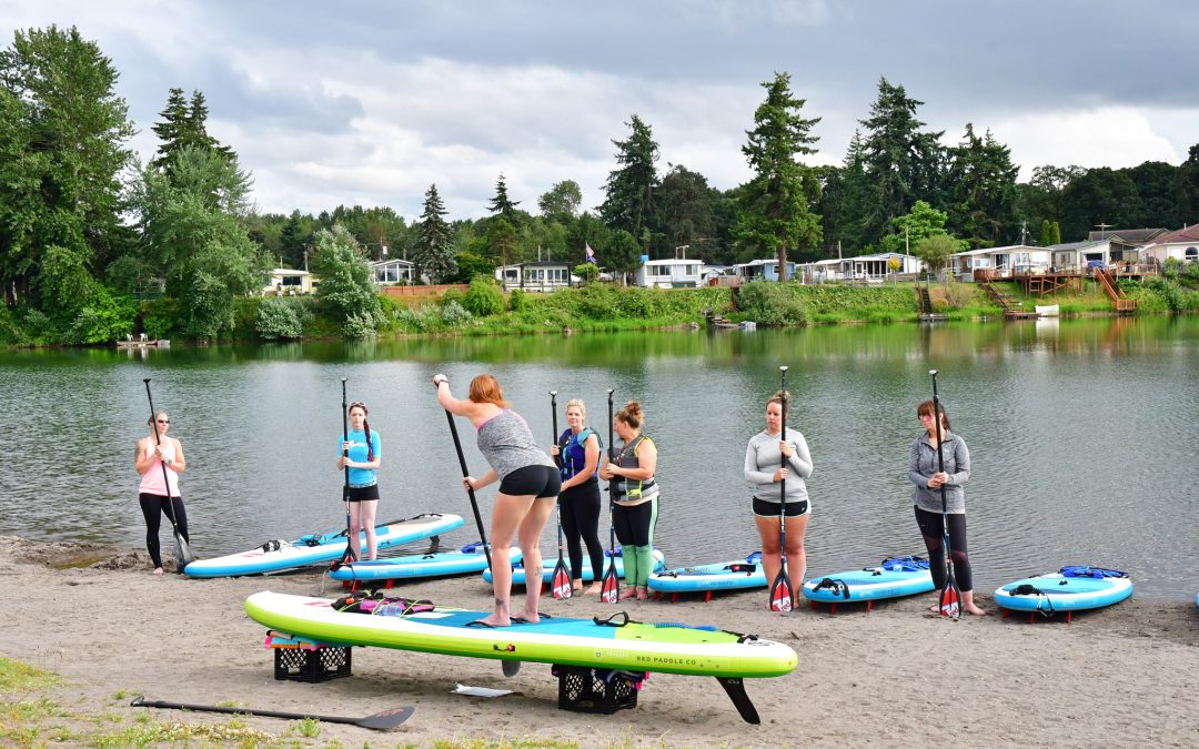 "Horseshoe Lake in Woodland Wa WOMEN'S PADDLE-FIT CLASSES ""Cardio & Core Strength"" 4pm June 23rd"