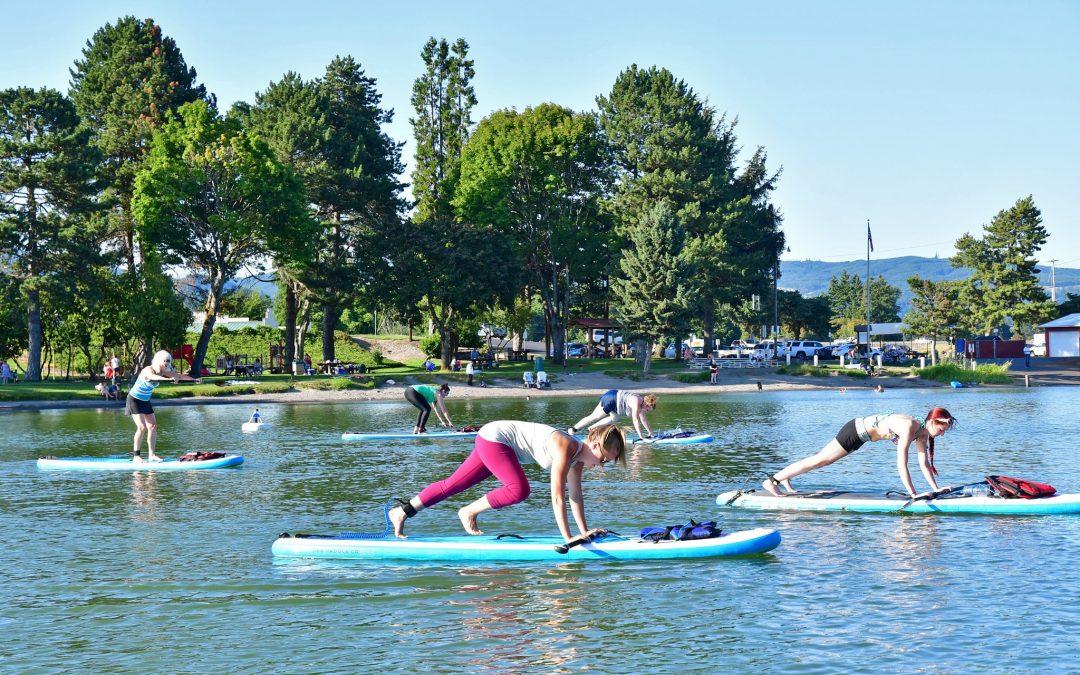 "Horseshoe Lake in Woodland Wa WOMEN'S PADDLE-FIT CLASSES ""Cardio & Core Strength"" 6pm June 23rd"