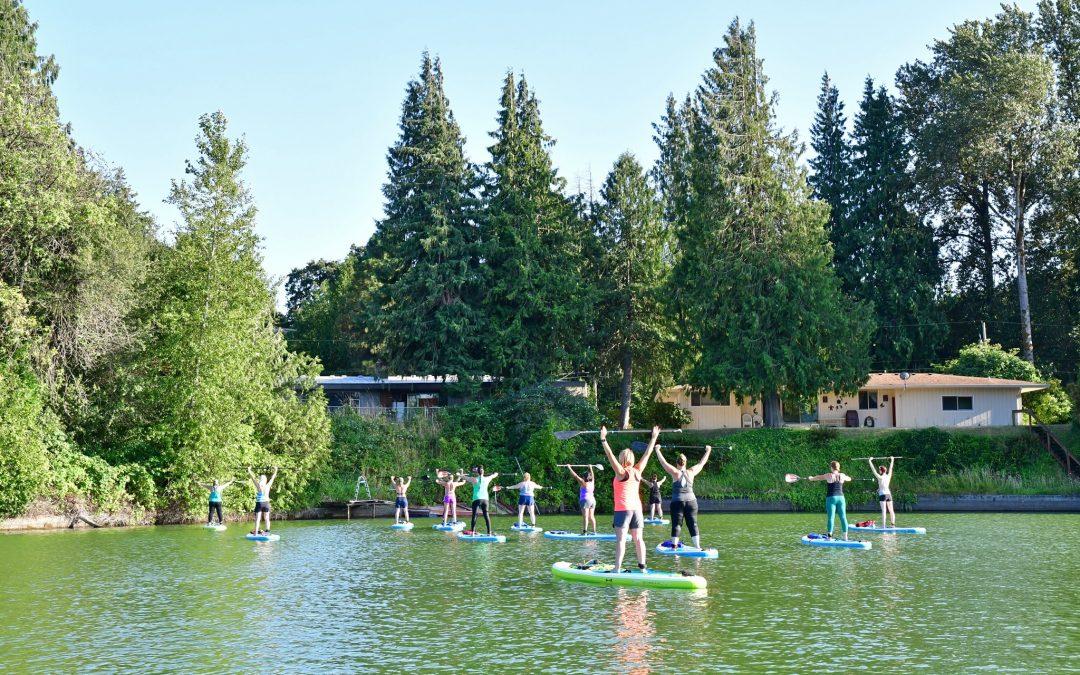 "Horseshoe Lake in Woodland Wa WOMEN'S PADDLE-FIT CLASSES ""Cardio & Core Strength"" 6pm July 21st"