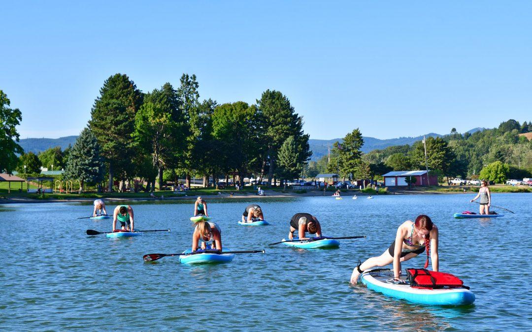 "Horseshoe Lake in Woodland Wa WOMEN'S PADDLE-FIT CLASSES ""Cardio & Core Strength"" 6pm July 28th"