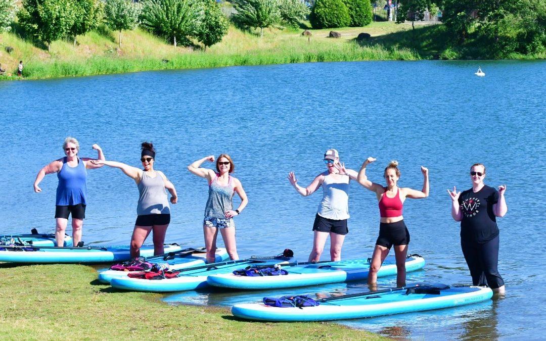 "Horseshoe Lake in Woodland Wa WOMEN'S PADDLE-FIT CLASSES ""Cardio & Core Strength"" 6pm June 2nd"